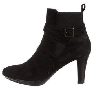 Aquatalia Pointed-Toe Ankle Boots Black Pointed-Toe Ankle Boots