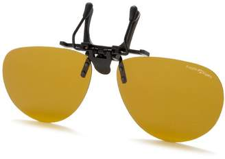 Eagle Eyes Clip On Sunglasses - Contemporary Aviator Sunglasses Style - Large