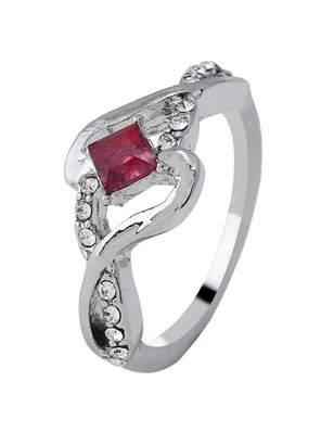 2586211178 Shein Twist Design Gemstone Ring 1pc