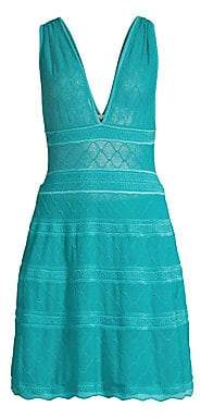 M Missoni Women's V-Neck Knit A-Line Dress