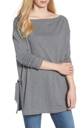 Caslon Side Tie Cotton Tunic Top (Regular & Petite)