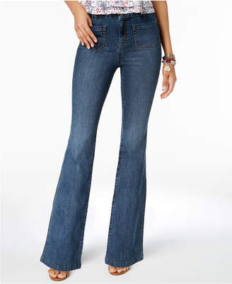Style&Co. Style & Co Petite Patch-Pocket Flare-Leg Jeans, Created for Macy's