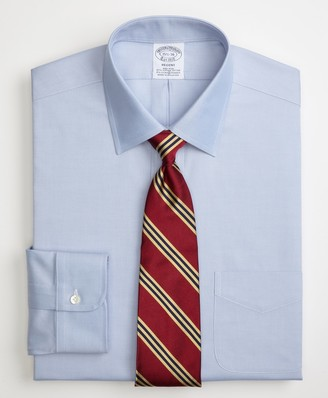 Brooks Brothers Stretch Regent Fitted Dress Shirt, Non-Iron Spread Collar