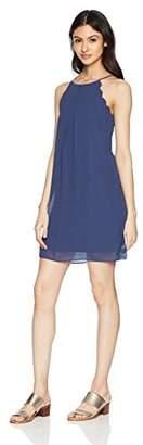 Amy Byer A. Byer Women's Young Teen Scalloped Edge Chiffon Shift Dress
