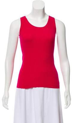 Magaschoni Rib Knit Sleeveless Top