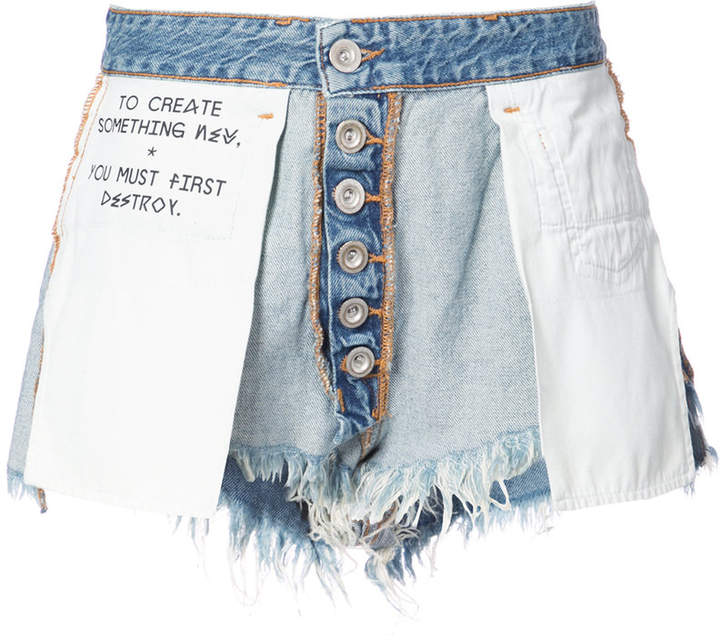 Unravel Project inside out denim shorts