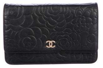 Chanel Camellia Wallet On Chain