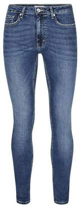 Topman Mens Light Wash Blue Spray On Skinny Jeans