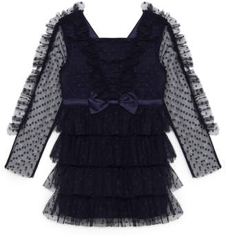 Bardot Junior Hope Mesh Ruffle Dress, Size 8-16