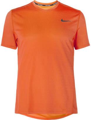 Nike Running Miler Logo-Print Dri-Fit Running T-Shirt