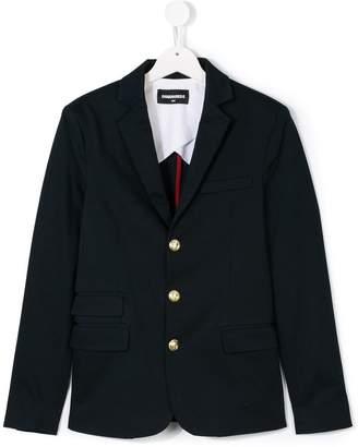 DSQUARED2 Teen button-embellished blazer