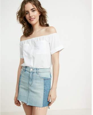 Express off the shoulder short sleeve shirt