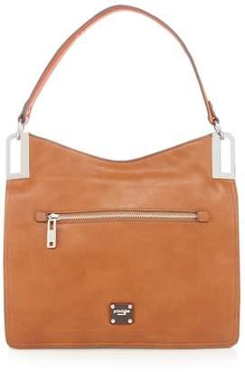 Ben de Lisi Principles - Tan Metal Corner Shoulder Bag