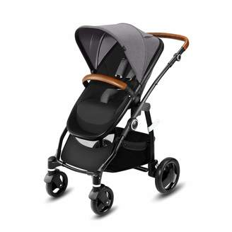 Kurt Geiger Cybex cbx Leotie Lux Pushchair with Reversible Luxury Seat Leather Accents and Foldable Carrycot for Newborns Incl. Rain Cover from Birth to 15