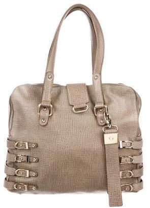Jimmy Choo Embossed Leather Shoulder Bag