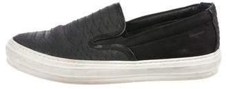 Salvatore Ferragamo Embossed Leather Slip-On Sneakers