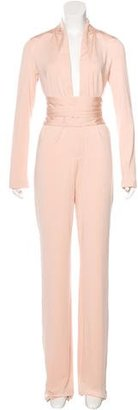 La Perla Silk Wide-Leg Jumpsuit w/ Tags $495 thestylecure.com