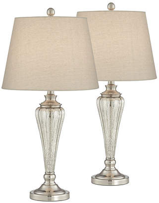 Pacific Coast Metal and Glass Table Lamps - Set of 2