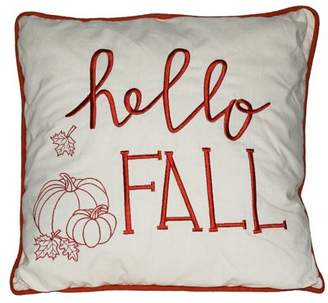 Darice Hello Fall Pillow: White, 17 x 17 inches
