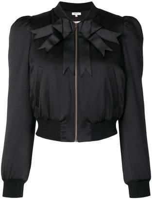 Manoush bow ribbon detail bomber jacket