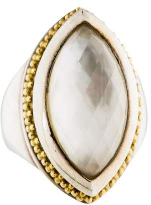 Lagos Quartz & Mother of Pearl Doublet Cocktail Ring