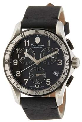 Victorinox Men's Chrono Classic Gent Black PVD Watch, 41mm