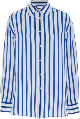 Ralph Lauren Adrien Silk Striped Shirt