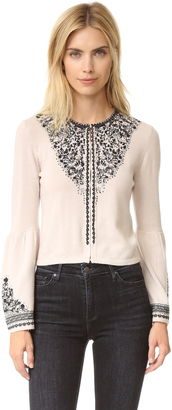 Nanette Lepore Scrolls Sweater $378 thestylecure.com