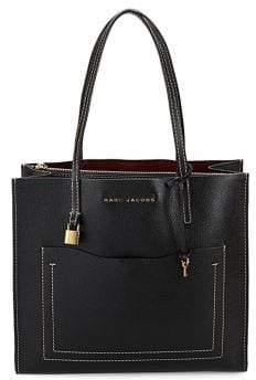 Marc Jacobs Grind T Pocket Leather Tote Bag