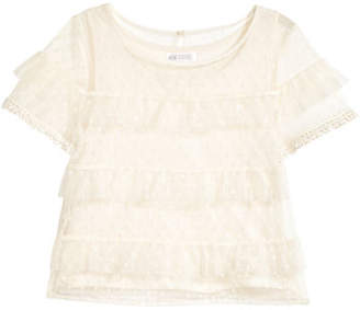H&M Tiered Tulle Top - White