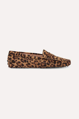 Tod's Gommino Leopard-print Calf Hair Loafers - Leopard print