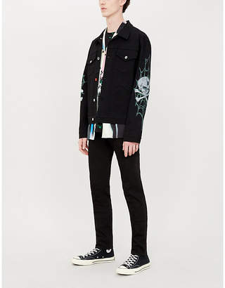 Burton MJB - MARC JACQUES Skull and web-print denim jacket
