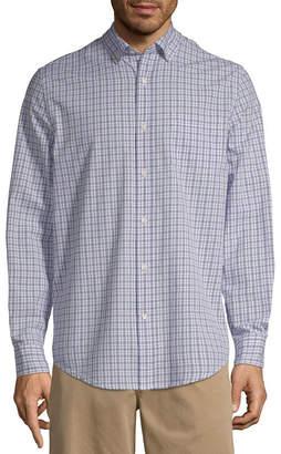 ST. JOHN'S BAY Mens Long Sleeve Poplin Button-Front Shirt