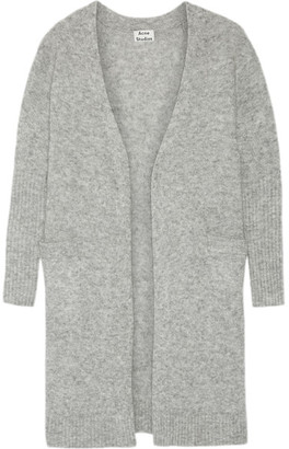 Acne Studios - Raya Oversized Knitted Cardigan - Gray $465 thestylecure.com