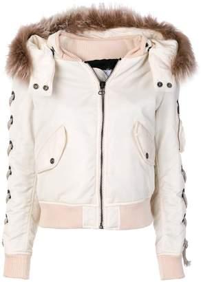 As65 fur trim jacket