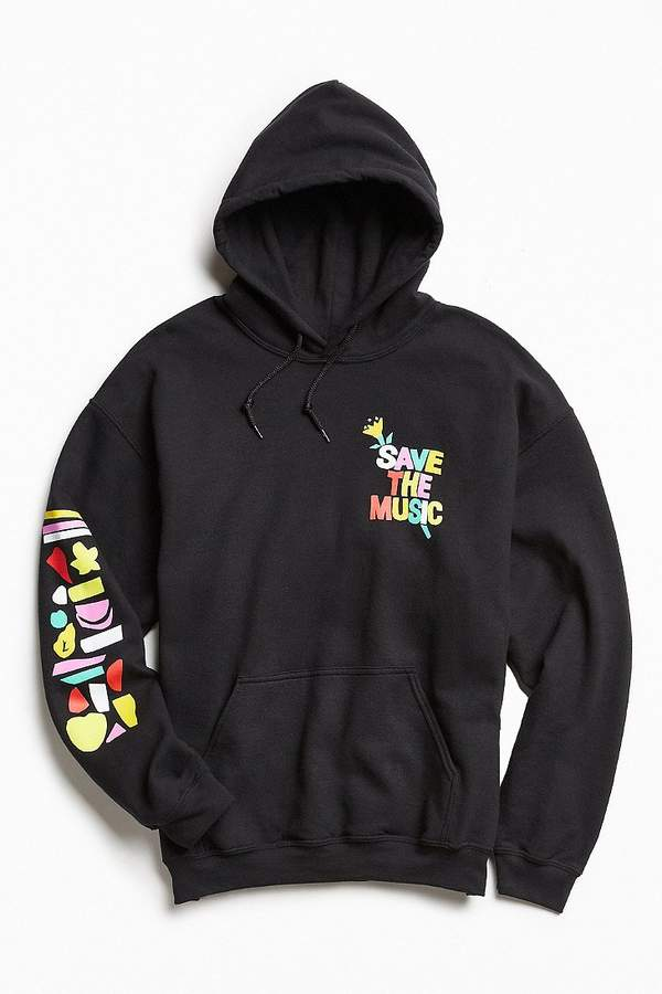 Urban Outfitters UO + VH1 Save The Music Foundation Hoodie Sweatshirt