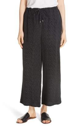 Eileen Fisher Wide Leg Crop Pants (Regular & Petite)