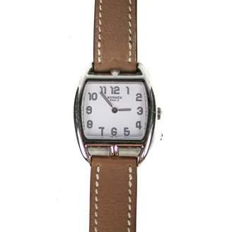 Hermes Cape Cod Tonneau leather watch