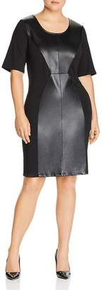 Junarose Plus Faux Leather Panel Dress