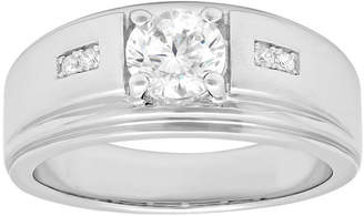 JCPenney FINE JEWELRY Mens Sterling Silver Cubic Zirconia Ring