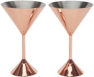 Tom Dixon Plum Copper Martini Glass - Set of 2