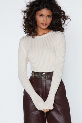 Nasty Gal The Way Knit is Ribbed Sweater