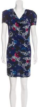 Emilio Pucci Printed Short Sleeve Dress Navy Printed Short Sleeve Dress