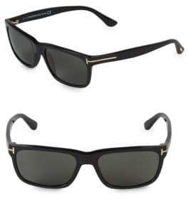 Tom Ford 55MM Rectangle Sunglasses