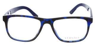 Versace Printed Square Eyeglasses