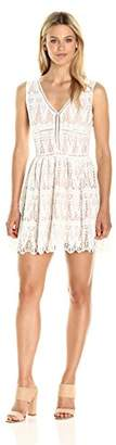 Lucca Couture Women's Lace Low V Neck Dress