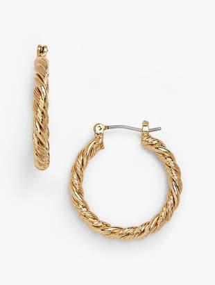 Talbots Twisted-Rope Hoop Earrings