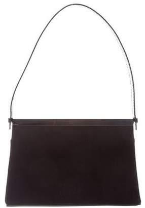 Gucci Patent Leather-Trimmed Shoulder Bag