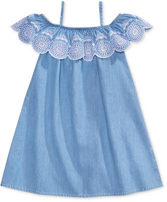 Maison Jules Mommy & Me Embroidered Denim Dress, Toddler & Little Girls (2T-6X) & Big Girls (7-16), Only at Macy's $34.50 thestylecure.com