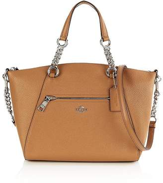 Coach Prairie Chain Satchel Bag- Tan